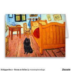 Schipperke 2 - Room at Arles Greeting Card