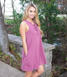 ALL TIED UP DRESS IN ROSE