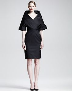Almost looks like a Philippine Mestiza dress. Chalice Portrait Collar Dress by Gareth Pugh at Neiman Marcus.