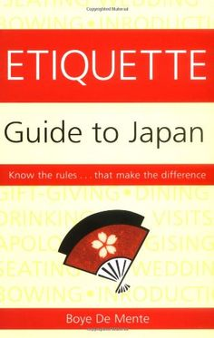 Etiquette Guide to Japan offers an inside look at the social norms of the Japanese-when to bow, how to propose a toast, when to pay the bill, the careful art of gift-giving, how to deal with public transportation, dating, weddings, funerals, and last, but not least, how to say good-bye at the end of your stay. If you want to save yourself from possible embarrassment during your stay in Japan, you will find the Etiquette Guide to Japan to be a much-needed co