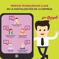 Perfiles tecnológicos clave en la digitalización de la empresa #infografia #rrhh