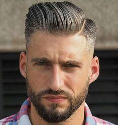 Comb Over Fade Haircut Low Taper Fade Comb Over with Part and Beard Comb Over Fade Haircut, Fade Haircut Styles, Hair And Beard Styles, Pompadour Hairstyle, Undercut Hairstyles, Men Undercut, Cool Haircuts, Haircuts For Men, Modern Haircuts