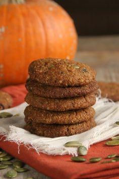 Mini Pumpkin Power Cookies {grain-free, vegan}