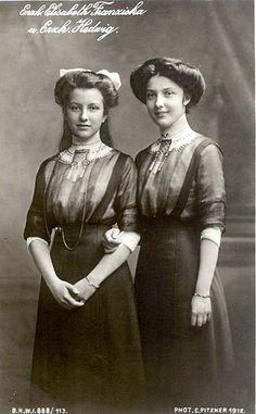 Erzherzogin Elisabeth Franziska und Herzoherzogin Hedwig von Österreich, Arch Duchess of Austria by Miss Mertens, via Flickr