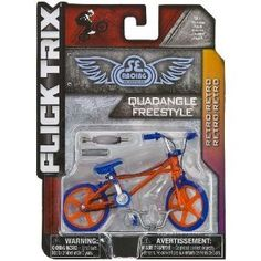 "Quadangle Freestyle by Racing BMX Innovation: Flick Trix ~4"" BMX Finger Bike"