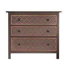 O'verlays Jasmine Kit for IKEA Hemnes 3 drawer.  Painted Metallic Copper