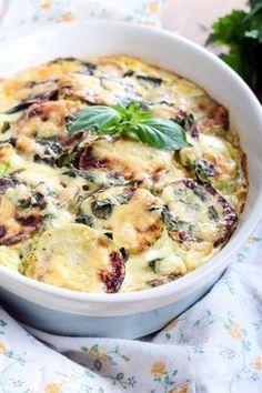 courgette, jambon blanc, oignon, sel, poivre, gruyère râpé