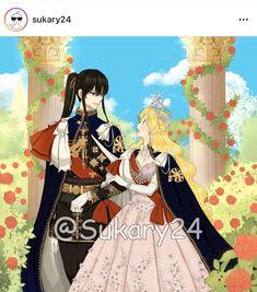 Ouke no monshou ♥ Anime Couples Drawings, Anime Couples Manga, Manga Anime Girl, Anime Princess, Anime Love Couple, Manhwa Manga, Slayer Anime, Manga Characters, Kawaii Anime