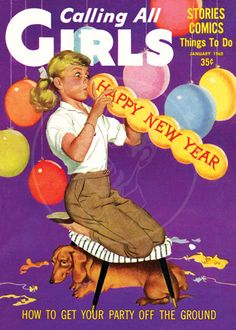 Calling all Girls (Jan 1960) - 10x14 Giclée Canvas Print of Vintage Children's Magazine by cheeseboyproducts on Etsy https://www.etsy.com/listing/156902633/calling-all-girls-jan-1960-10x14-giclee