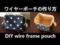 すべて100均材料でワイヤーポーチ(セリア口金18×5)を作りましたHow to make wire frame pouch - YouTube