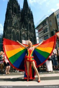 Zoe Delay's Pride Costume- beautiful!