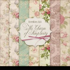 Far Far Hill - Free database of digital illustrations and papers: New Freebies Kit of Papers - The Charm of Simplici...