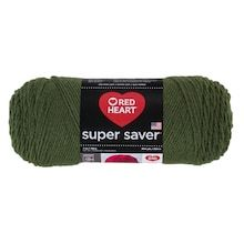 Red Heart Super Saver Yarn, Solid in Thyme Knitting Gauge, Knitting Needles, Buy Fabric, Fabric Shop, Super Saver, Michael Store, Types Of Yarn, Needles Sizes, Crochet Hooks