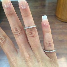 These beautiful fishtail set diamond wedding bands are #sparkling away in the #sunny Selini showroom today!  #bespoke #instawed #wedding #diamonds #weddingrings #romance #beautiful #selinijewellery #design
