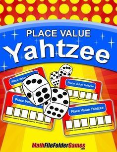 Place Value Yahtzee {Place Value Game} https://www.teacherspayteachers.com/Product/Place-Value-Yahtzee-Place-Value-Game-1465447
