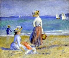 Pierre Auguste Renoir,  Figures on the beach, 1890