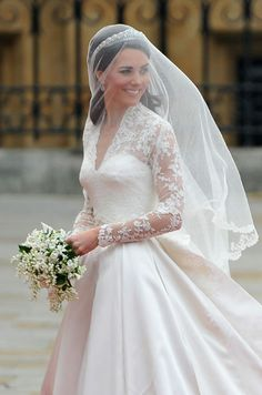 I know it may be a little cliche at this point, but I loved Kate Middleton's wedding dress. I think it is stunningly beautiful and incredibly elegant. It can be very hard to pull off sleeves on a wedding dress, but this is simply flawless.