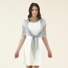 This design is from The Sublime Extra Fine Merino Lace Accessories Book which features 15 designs for women using Sublime Extra Fine Merino Lace Knitting Books, Hand Knitting, Knitting Patterns, Rowan Yarn, Addi Knitting Needles, Cross Stitch Kits, Pattern Books, Knit Crochet, White Dress
