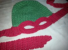 Ravelry: Ninja Turtle Hat/Mask pattern by Jaime George