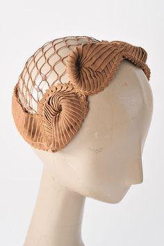 Vintage Fawn Fascinator 1940s Hat Autumn Bridal by missfarfalla, $38.00