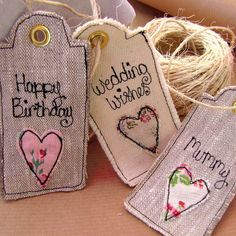 personalised vintage inspired tags http://www.notonthehighstreet.com/sewveryenglish/product/personalised-tags-vintage-inspired