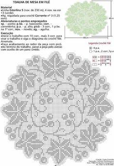 Heklanje By Ninach 154 Filet Crochet Charts, Crochet Motifs, Thread Crochet, Knit Crochet, Tatting Patterns, Doily Patterns, Crochet Patterns, Crochet Home, Irish Crochet