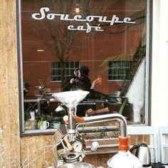 Soucoupe Café Coffee like no other, seriously ! Unparalleled Lunch and brunch. Get Crema app and try it yourself Build An App, Montreal, Indie, Brunch, Scene, Coffee, Kaffee, Cup Of Coffee, Stage