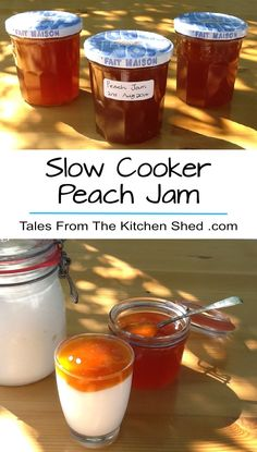 Delicious Slow Cooker Peach Jam & only 3 ingredients! Take the heat out of…