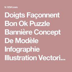 Doigts Façonnent Bon Ok Puzzle Bannière Concept De Modèle Infographie Illustration Vectorielle Clip Art Libres De Droits , Vecteurs Et Illustration. Image 25941346.