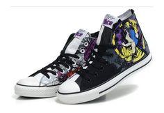 57edc8f684 Converse Shoes Black DC Comics Batman Two-face Womens Mens Canvas Sneakers  High Tops - eurshirt Shop