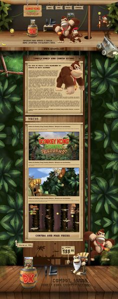 Donkey Kong Country Returns - UZ Games by Wilson Campos Gomes, via Behance