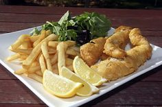 Beer Battered Fish - Simple beer batter using just beer and self raising flour - vegan batter