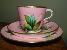 Antique English Minton /Mintons porcelain trio cup, saucer and tea plate…