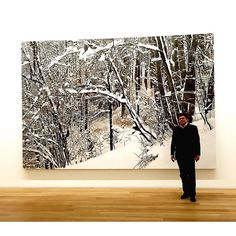 Arno Stein director of Museum Franz Gertsch in front of Gertsch's monumental winter image- which is a painting and not a photograph!  I had the privilege to be shown around by Stein at that magnificent museum and acquaint myself with Gertsch's masterpieces - portraits and nature. #MuseumFranzGertsch #arnostein #bern #burgdorf by oberg_photographics Franz Gertsch, Winter Images, Arno, Chile, Shots, Photograph, Museum, Portraits, Tapestry