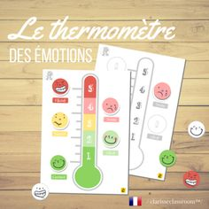 The Feelings Thermometer ? Le thermomètre des émotions from Clarisseclassroom on TeachersNotebook.com (15 pages)