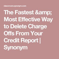 Finance Report Format How To Clean Up Credit Report  Money  Pinterest  Credit Report .