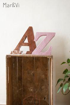 manualidad con cartón:  letras decorativas paso a paso
