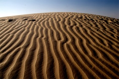 Amazing sand dunes in Khuri, Rajasthan India.