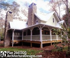 For the Laid Back Lifestyle - 26613GG   Cottage, Country, Mountain, Vacation, Narrow Lot, Photo Gallery, 1st Floor Master Suite, CAD Available, Carport, PDF, Wrap Around Porch   Architectural Designs