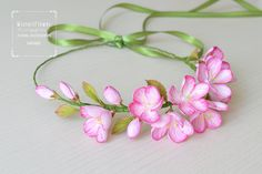 Excited to share the latest addition to my #etsy shop: Beauty gift Cherry blossom Wedding Flower crown Spring flower hair piece Bridesmaid accessory Sakura Pink headbands Wedding hair accessory #weddings #accessories #cherryblossom #weddingflower #flowercrown #weddingcrown #bridesmaidaccessory
