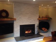 boral white oak country ledgestone fireplace - Google Search ...