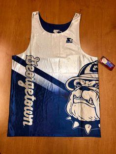 ea2db0fec3a7 Vintage 1994 - 1996 Georgetown Hoyas Reversible Starter Jersey Size L  champion dikembe mutombo allen