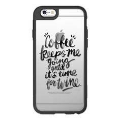 Coffee & Wine – Black Ink on Transparent - iPhone 6s Case,iPhone 6... (£31) ❤ liked on Polyvore featuring accessories, tech accessories, iphone case, iphone cases, apple iphone cases, clear iphone cases, iphone cover case and iphone hard case
