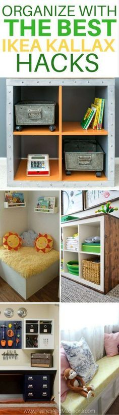 These are THE BEST Ikea Kallax Hacks. So many great DIY projects in one place!