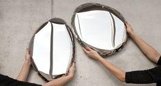 TAFLA miroir en métal soufflé par Oskar Zieta - Blog Esprit Design