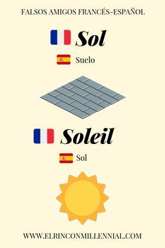 30 falsos amigos en francés que debes conocer - sol soleil French Expressions, French Language Lessons, French Lessons, French Alphabet, French Phrases, English Vocabulary Words, Learn French, Cool Words, Quotes Amor