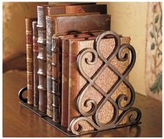 wrought iron bookends