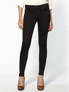 Hudson Nico Mid Rise Super Skinny jeans in Black as seen on Kourtney Kardashian