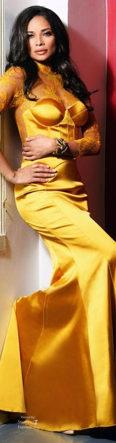 Color Palette Yellow: Fashion, Beauty, Accessories, Home Decor and Nature in shades of Yellow. Yellow Fashion, Colorful Fashion, Rochelle Aytes, Beautiful Gowns, Beautiful Women, Shades Of Yellow, Mellow Yellow, Festival Outfits, Autumn Winter Fashion