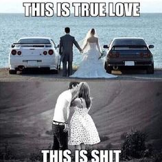 Happiest couple ever. Car memes The Best of . Car Guy Memes, Car Jokes, Funny Car Memes, Car Humor, Funniest Memes, Funny Shit, Funny Stuff, Nissan, Car Pictures